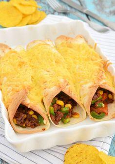 minced meat burritos - burritos met gehakt - Laura's Bakery