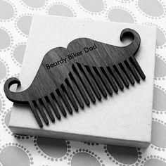 Beard Comb - Movember beard comb - dark wood moustashe comb - personalised hipster gift - personalized gift for men- stocking stuffer Diy Wood Projects For Men, Hipster Gifts, Full Beard, Beard Lover, Beard Grooming, Awesome Beards, Beard Care, Wood Patterns, Gadgets
