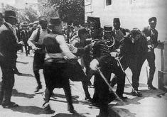28 June1914, Assassination in Sarajevo of Archduke Franz Ferdinand of Austria. Gavrilo Princip arrested.