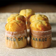 Portuguese Bolo de Arroz (Rice Cake). In love these with a cup of tea. Always buy them and never bake them but I do always keep rice flour on hand...
