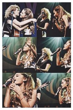Ariana  Tori Kelly performing