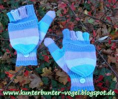 Kunterbunter Vogel: Anleitung - Handschuhe mit Fingerkappe Teil 1
