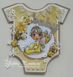 Debbie P's Place: Another Baby Onesie Card