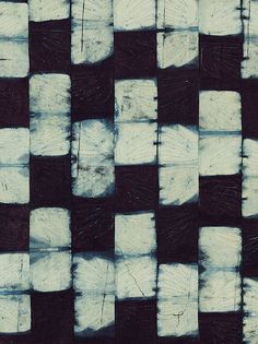 Detail of indigo resist dyed cotton, Ibadan, Nigeria 1960s Museum no. Circ.593-1965. © Victoria and Albert Museum, London
