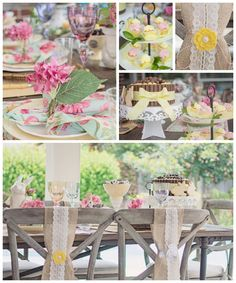 Shabby Chic Woodland Party with Such Cute Party Ideas via Kara's Party Ideas | Full of decorating ideas, cake, cupcakes, desserts, games, an...