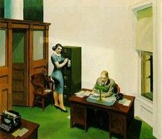 Reproduction tableau de Hopper, Office At Night, Oil Painting For Sale, Paintings For Sale, Minneapolis, John Stezaker, Edward Hopper Paintings, New York Street, Conceptual Art, Night Time, Art Blog