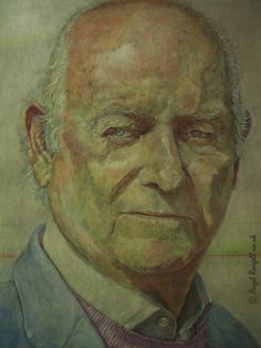 Portrait Painting . Detail II .  Acrylic on Board . 77cm x 107cm .