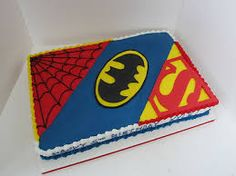 Image result for superhero slab cake