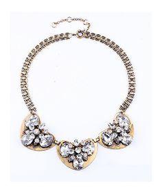 Art Deco Gold Crystal Necklace