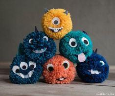 Yarn Pom Pom Monsters - Lia Griffith More