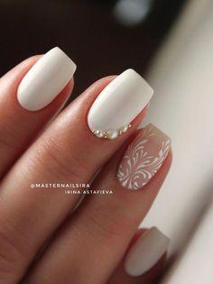Irina Astafyeva | VK Bridal nails?? #bellauñasnovias Square Gel Nails, Teen Nails, Diy Acrylic Nails, Bride Nails, Wedding Nails Design, Heart Nails, Nail Games, Nail Art Hacks, Nail Trends