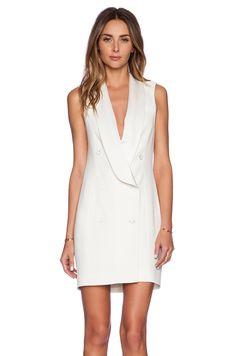 #REVOLVEclothing Haute Hippie Short Sleeve Tux Dress in Swan