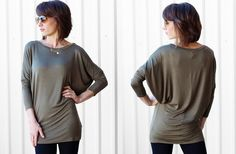 Le Slouchy Dolman Tunic - 7 Colors! 53% off at Groopdealz