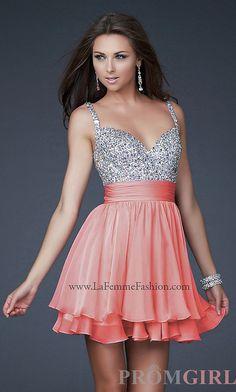 La Femme Beaded Party Dress, Junior Prom Beaded Dresses