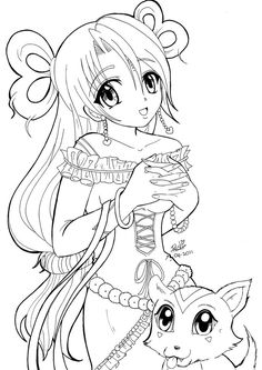 nice Cute Anime Kitten Coloring Pages free Download - Sea4Waterman