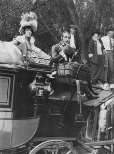 Gloria Swanson and Rudolph Valentino between takes on Beyond the Rocks, 1922