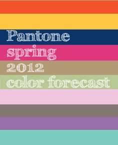 Pantone's predictions for what the hot colors will be this spring: tangerine tango, solar power, cabaret, starfish, sodalite blue, margarita, sweet lilac, driftwood, bellflower, and cockatoo. I'm loving how bright it looks like the season will be!