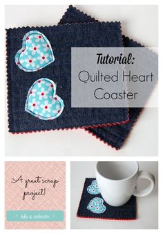 Upcycled Heart Coaster tutorial by Lulu