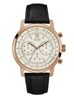 Rose Gold-Tone Oversized Chronograph Watch