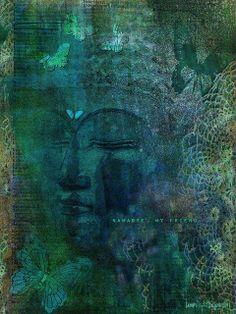 buddha among butterflies Buddha Kunst, Buddha Art, Gautama Buddha, Buddha Buddhism, Namaste, Buda Zen, Taoism, World Religions, Butterfly Art