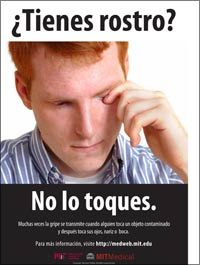 Healthy mind, spirit and body: Flu poster - fever - Spanish health