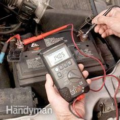 Using a multi-meter to test your alternator (also works great for testing the battery voltage - s/be 12.6v @ full charge)