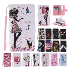 For Lg Leon 4G Lte H340N C40 Flip Leather Stand Case W/Strap Cards Cover Wallet