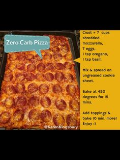 Zero Carb Pizza - from Karen Kingsbury #lowcarb #prismdiet #karenkingsbury @karenkingsbury #karenkingsburybookclub