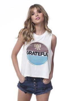 Spiritual Gangster Grateful Crop Tank - Stardust