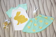 Golden Bunny Skirt Set:  $13.50 with a share for a limited time!