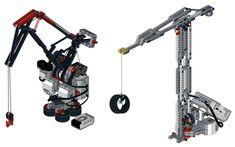crane CityCAMP Mindstorms EV3 Lego Wedo, Lego Mindstorms, Lego Technic, Visual Programming Language, Technique Lego, Educational Robots, Lego Robot, Simple Machines, Lego Models