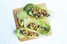 FRIDAY FEEDS: SPICE-RUBBED CAULIFLOWER & CHICKPEAS WITH LETTUCE TACOS