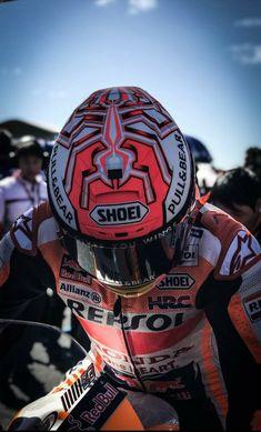 Marc Márquez, Australia 2018 Motorcycle Racers, Racing Motorcycles, Motorcycle Helmets, Marc Marquez, Duke Bike, Shoei Helmets, Ss Lazio, Suzuki Gsx, Motocross