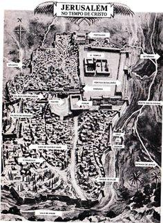 Jerusalém no tempo de Jesus - Mapas Bíblicos