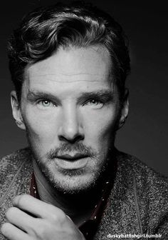 Benedict Cumberbatch - I really dig him with a beard or goatie! Looks great on him!