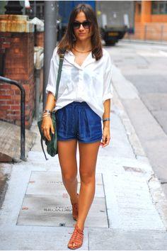 casual shirt and shorts