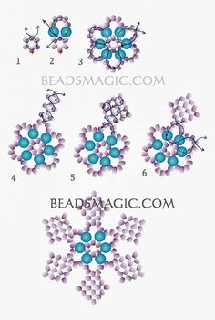 Free pattern for Snowflake pendant - List of the most beautiful jewelry - Free pattern for Snowflake pendant – List of the most beautiful jewelry - Beaded Flowers Patterns, Beaded Jewelry Patterns, Bracelet Patterns, Beading Patterns, Art Patterns, Loom Patterns, Beading Tutorials, Motifs Perler, Beaded Jewelry