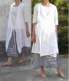 014----Super Light Silk Linen Kimolo Blouse Jacket, Cardigan Blazer, Overblouse, Zen Style Dress.