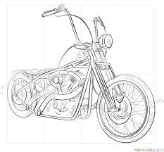 How to draw a chopper bike step by step. Drawing tutorials for kids and beginner… How to draw a chopper bike step by step. Drawing tutorials for kids and beginners. Old school vintage styled biker tattoos Chopper Motorcycle, Motorcycle Art, Bike Art, Motorbike Drawing, Bicycle Drawing, Biker Tattoos, Car Tattoos, Drawing Tutorials For Kids, Drawing Ideas