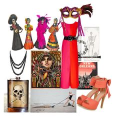 The Darker Side Of Dixie by shelger21 on Polyvore featuring Isa Arfen, JY Shoes, Bling Jewelry, NOVICA, Trixie & Milo, Bey-Berk and Hermès