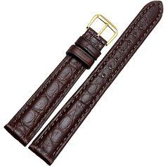 Womens Genuine Alligator Leather Watch Strap