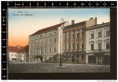 Forst Lausitz, Rathaus am Markt um 1920