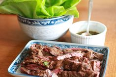 Thai-Style Beef Lettuce Wraps Adapted from Sara Foster's Casual Cooking Lettuce is generally unattractive to kids … Sara Foster, Beef Lettuce Wraps, Fast Dinners, Kid Friendly Dinner, Thai Style, Dinner Ideas, January, Appetizers, Dishes