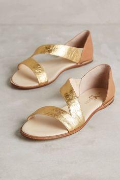 Casey Metallic Sandals by Yosi Samra #anthrofave #anthropologie