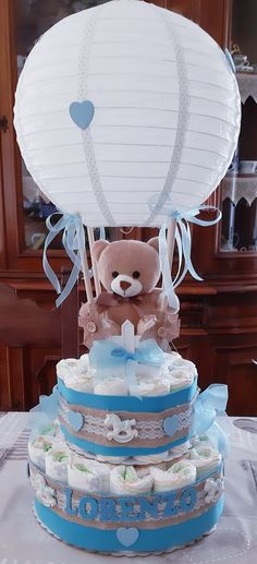 Idee Baby Shower, Baby Shower Baskets, Baby Shower Crafts, Baby Shower Diapers, Baby Boy Shower, Baby Shower Centerpieces, Baby Shower Decorations, Baby Gift Hampers, Baby Gifts