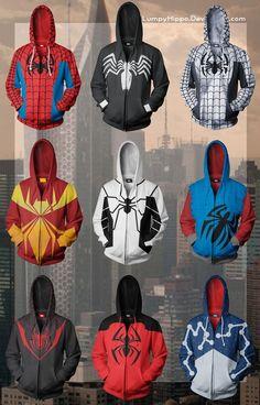 Spider-Man Hoodies by lumpyhippo.deviantart.com on @deviantART