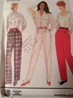 A personal favorite from my Etsy shop https://www.etsy.com/listing/264372961/simplicity-9785-womens-pants-sewing