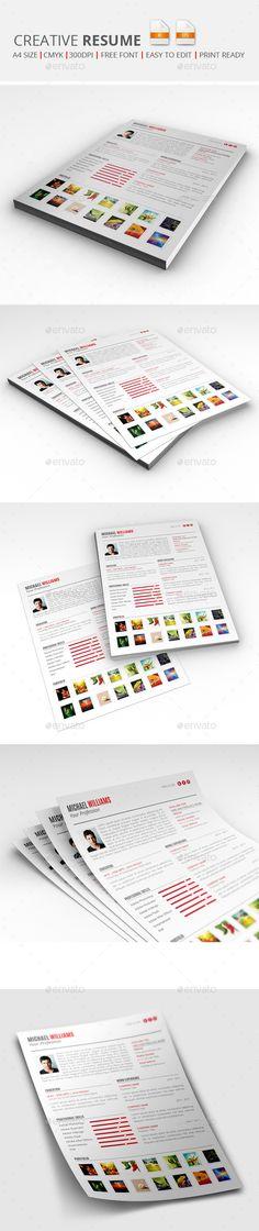 CV Booklet Template — Photoshop PSD #template #unique • Available ...