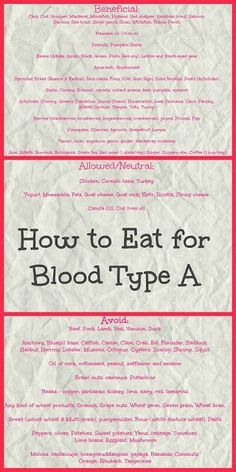 How to eat for Blood Type A