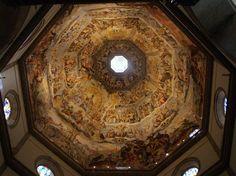 Florenz, Duomo Santa Maria del Fiore, Kuppelfresko des jüngsten Gerichts von Giorgio Vasari und Federico Zuccari